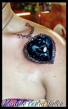 blue diamond by Marcello Cestra | 3d tattoos