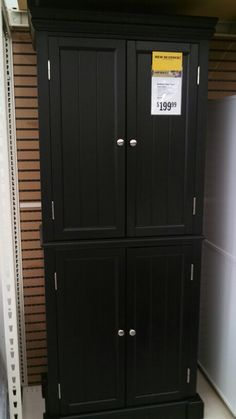 129 99 Ameriwood White 4 Door Storage Cabinet From Big Lots My Style Pinboard Tall