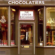 Fachada de loja de chocolates gourmet