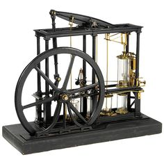 2 - Physical Demonstration Model of a James Watt Type Beam Steam Engine, c. 1850…