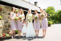 Bride and her girls