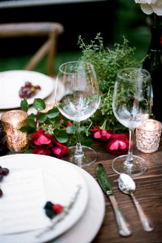 Wine Inspired Wedding Ideas - these colors