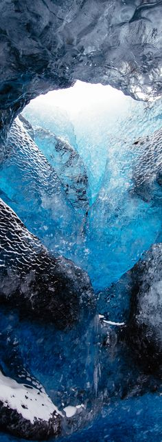 Blue glacier ice cave in Iceland // Give your landscape photos a professional look with Adobe Lightroom presets from @presetbase