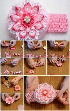 How to Make Ribbon Rose Bandage | UsefulDIY.com