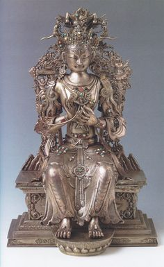 animus-inviolabilis:  Maitreya Silver alloy repoussé (Mongolia, second half of 18th century)