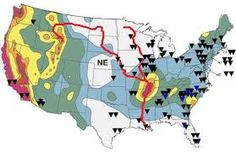 Natural Disaster Map Of Usa Google Search FLL Pinterest - Us map potential natural disasters