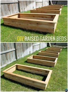 DIY Cedar Wood Raised Garden Bed-20 DIY Raised Garden Bed Ideas Instructions #RaisedGarden