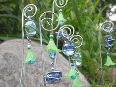 Wire Wrap Plant Stakes Garden Art Whimsy Fairy by brambleoak, $12.00