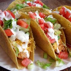 Looks delicious - Chicken Tacos ヅ