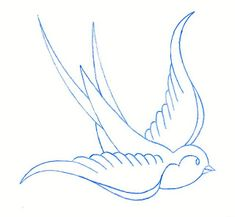 Old School Sparrow Drawing Traditional swallow tattoo on Body Art Tattoos, Tattoo Drawings, Small Tattoos, Heart Tattoos, Small Outline Tattoos, Tatoos, Bird Outline Tattoo, Swallow Bird Tattoos, Swallow Tattoo Design