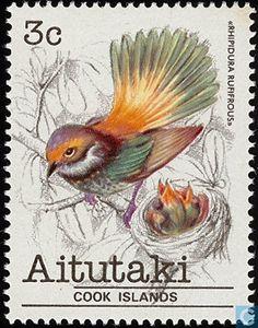 1981 Aitutaki - Pájaros