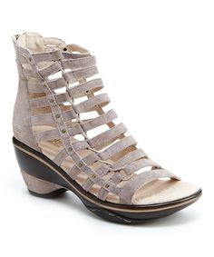 Look what I found on #zulily! Light Taupe Brookline Leather Sandal - Women #zulilyfinds
