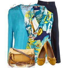 """Turquoise & Honey"" by lv2create on Polyvore"