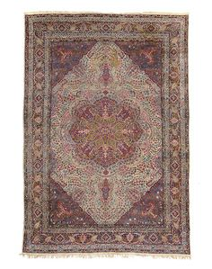 Kerman carpet South Central Persia dimensions approximately 13ft 6in x 9ft 11in (412 x 302cm)