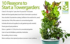 Juice Plus+ Tower Garden #garden #homegrown #growyourown http://krutsch.towergarden.com/