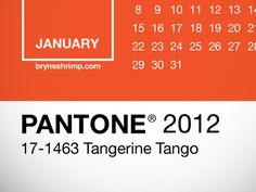 Pantone 2012 Lock Screen Calendar for iPhone