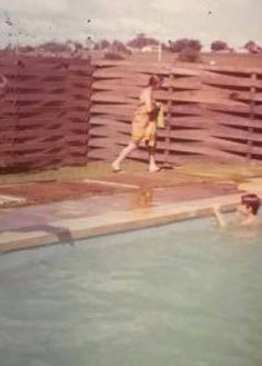 WILLOW SPINGS POOL - I remember that ugly fence like it was yesterday. Funny what sticks in your head.