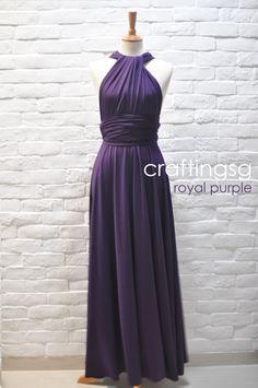 Long convertible dress, 50 Bridesmaid Dress Infinity Dress Royal Purple Floor Length Wrap Convertible Dress Wedding Dress
