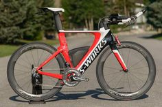 2014 Specialized SHIV S-Works triathlon bike Sweet sweat ride looks smoking fast standing still