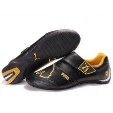 0409787874 Men Puma Baylee Future Cat II Black Golden Puma Fenty Shoes