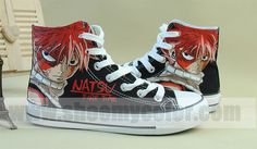 Natsu Dragneel Fairy Tail anime shoes hand painted unisex