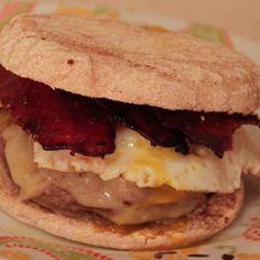 Maple-Dijon Bacon Burgers.