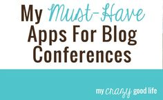 Must-have apps for blog conferences
