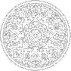 From Arabic Floral Patterns Colouring Book by Dover Publications