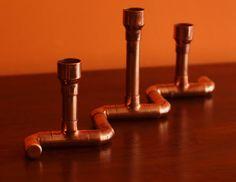 Sostenedor de vela de tubo de cobre / sostenedor del palillo