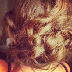Cute braided updo. (: