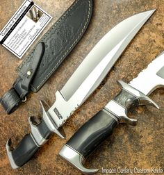 This marvelous 1-OF-A-KIND knife with D2 Tool Steel blade not only looks gorgeous but it is also rock solid because of its 5 mm thick blade going all the way inside the handle without any joint or weld. | eBay!