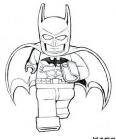 Print out The Avengers Lego Batman Coloring Pages - Printable Coloring Pages For Kids