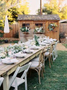 Intimate At Home Backyard Wedding