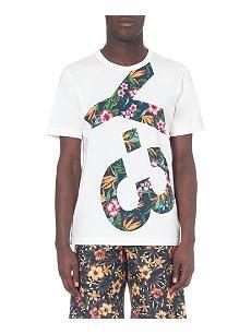 Y3 Floral-print logo t-shirt