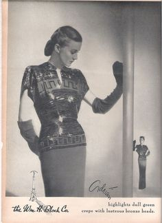 Gown by Gilbert Adrian, available at the William H. Block Co., Indianapolis, 1945