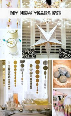 Try these DIY New Years Eve Party Ideas and Decorations   Happy New Year!