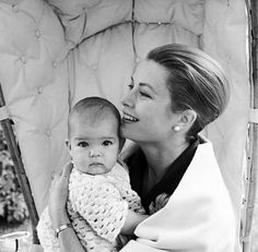 Princess Grace and her daughter, Stephanie...