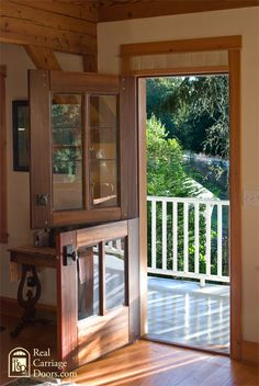 Real Carriage Doors - Keeps dogs and little ones in, but opens for a breeze.