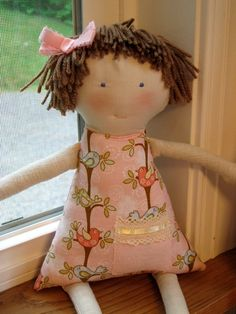 Charlotte Cloth Doll Waldorf Doll Handmade Rag Doll by thebuslbarn, $49.00
