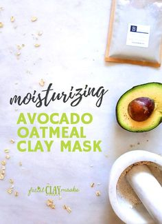 Avocado & oatmeal clay mask recipe for glowing and moisturized skin! Cooling Avocado Mask DIY recipe for all skin types, Finally, a clay mask for dry skin. Diy Skin Care, Skin Care Tips, Mask For Dry Skin, Avocado Face Mask, Clay Masks, Beauty Recipe, Natural Skin Care, Natural Face, Oily Skin