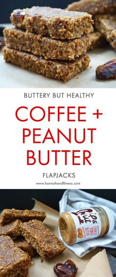 Healthy coffee and peanut butter flapjacks. These flapjacks are not only healthy but incredibly buttery and taste just like your original butter filled flapjack recipe. All you need are 7 ingredients and 20 minutes. Go on, give these healthy flapjacks a go!