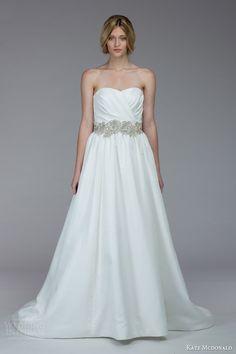 kate mcdonald bridal fall 2015 aiken pretty strapless wedding dress #weddingdresses #2015weddingdresses