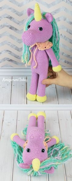 This fairy shy unicorn can make a great gift! Create it with our step-by-step crochet pattern and personalize it with colors, embroidery, or some cute decorations. #free #crochet #pattern #amigurumi