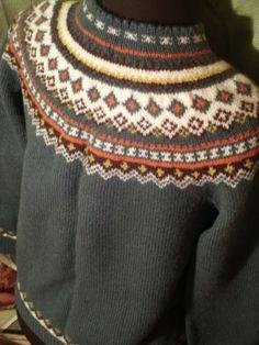 Nordic Cardigan Siril Vintage Sweater Handknit 100% Wool Heather Green…