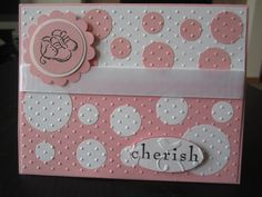 Welcome New Baby Girl Polka Dots Handmade Greeting Card. $2.00, via Etsy.