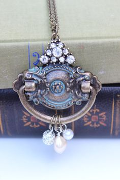 Vintage Inspired Escutcheon and Crystal by CHAiNGEthesubject, $29.00