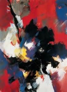 Jean Miotte (b1926) is a French abstract painter L'Art Informel. Miotte would experiment with gesture through painting  hone lyrical movement. His lithe, inventive line echoes the living art of dance. His use of black paint on a white or raw surface frequently recalls calligraphy; when color appears, it ranges from primaries to earthy tones.
