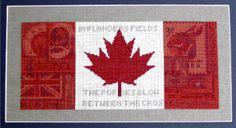 Maple Leaf Montage Cross Stitch by Lynne Nicoletti