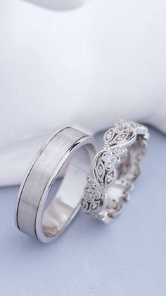 Wedding Ring Sets Unique, Wedding Rings Sets Gold, Cheap Wedding Rings, Matching Wedding Bands, Wedding Ring Designs, Wedding Band Sets, Wedding Rings For Women, Bridal Rings, Diamond Wedding Bands