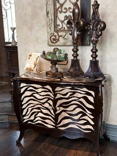 Donna Moss inspired animal print buffet